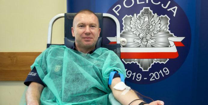 Akcja zbiórki krwi w Policji