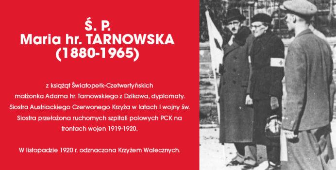 Nekrolog rocznicowy Marii hr. Tarnowskiej