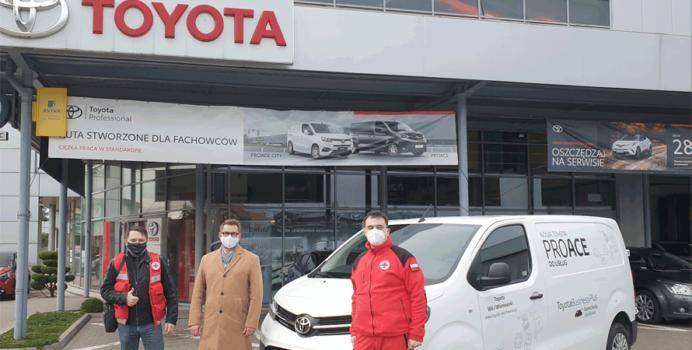 PCK z Toyotą w walce z Covid